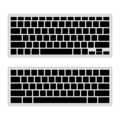 Computer Keyboard Blank Template Set. Vector