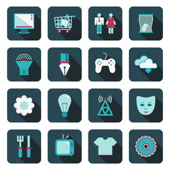 square blue media icons