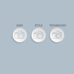 Camera Icon, flat vector illustration