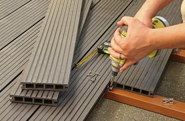 terrasse en plancher composite