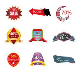 discount label tag vector symbol