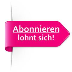 Langer pinker Sticker Pfeil – Abonnieren lohnt sich!