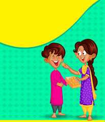 Brother and Sister in Raksha Bandhan