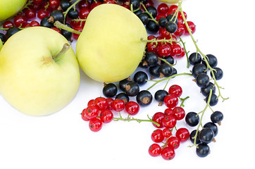 apples with red and black currant