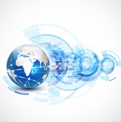 World network communication and technology concept, vector
