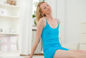 Frau entspannt