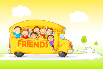 Children on Excursion for Friendship Day