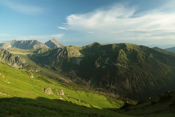"Tatra Mountains in Poland seen from the top of ""Kasprowy Wierch"""