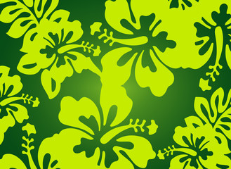 Green floral pattern - design element