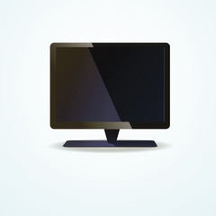 lcd tv monitor, vector illustration
