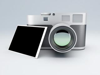 retro camera with  instant print 3d