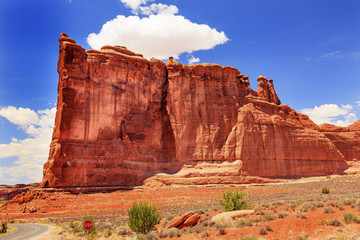Tower of Babel Rock Canyon Arches National Park Moab Utah