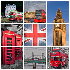 London photos collage