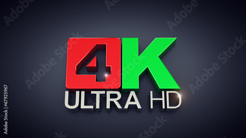 canvas print picture Ultra High Definition , 4K text on dark background
