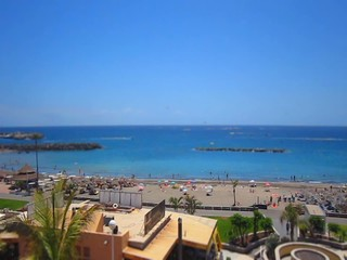 Beach, See and People on tenerife have fun