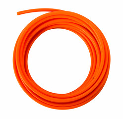 Orange plastic pvc pipes