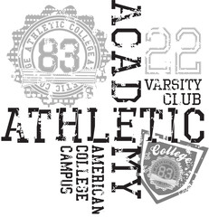 Athletics College Text Design
