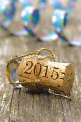 Naujahr 2015 mit Champagner