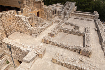 Archaeological Site of Knossos Palace on the Crete Island, Greec