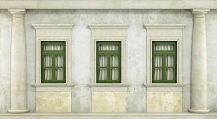 Detail of classc facade