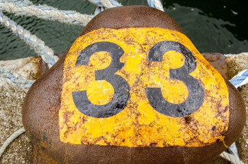 Number thirty three bollard