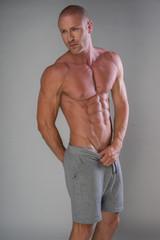 Handsome muscular man shirtless