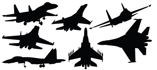 vector illustration of fighter jet,war plane