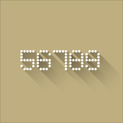 5 6 7 8 9 - Flat Dots Alphabet