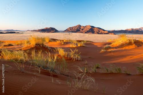 Ascension de la dune Elim en Namibie