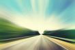 Asphalt road in motion blur.
