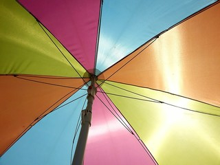 Colorful umbrella sun