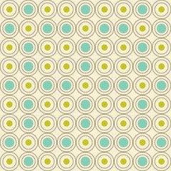 Retro  circle seamless pattern