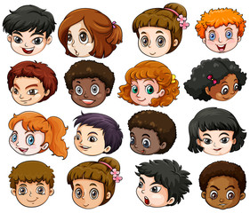 Heads of different people
