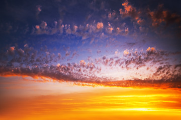 Sunrise cloudscape