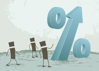 % Increase. Some people are looking at a large percentage sign