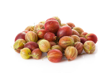 green and red gooseberries