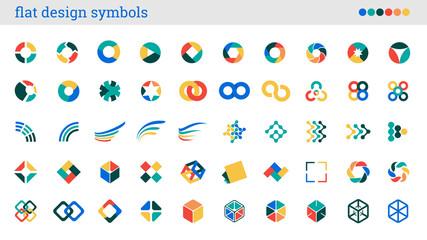 flat design symbols