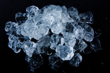 Beautiful Ice cubes. White crystals