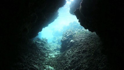 Dark Underwater Cavern