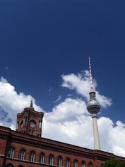 Fernsehturm, Rotes Rathaus, Berlin