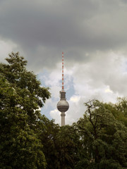 Fernsehturm, storm,  Berlin