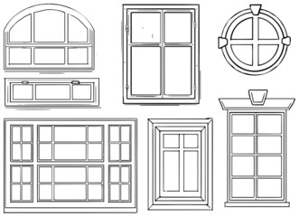Set of diferent windows