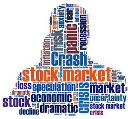 stock crash panic word cloud