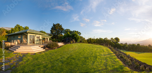 Home with grassy lawn - 67933984