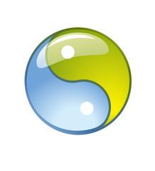 blue creative yin-yang symbol logo