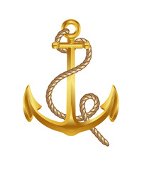 gold anchor vector art icon symbol download