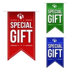 Special gift banner design set
