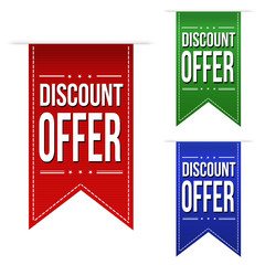 Discount offer banner design set