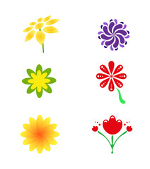 flower logo and icon