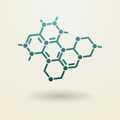 Simple molecule icon